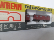 "Wrenn ""N"" Gauge Cat No 401 ""Goods"" Vans(2)-Italian Railways"