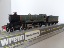 "Wrenn W 2221 4-6-0 ""Cardiff Castle"" - BR Green - Rare Early P4 Issue"