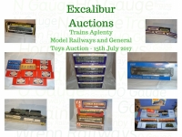 Excalibur Model Railway and Toy Auction 15/7/2017 - Village Hotel - Boreham Wood - NOT TO BE MISSED!